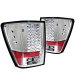 2005 Jeep Grand Cherokee Clear LED Tail Lights