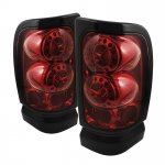 1996 Dodge Ram Red Smoked Ring LED Tail Lights