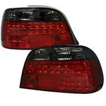 1995 BMW E38 7 Series Red and Smoked LED Tail Lights