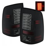 2012 Dodge Ram Black Smoked LED Tail Lights