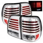 2003 Toyota Land Cruiser Clear LED Tail Lights