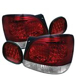 Lexus GS400 1998-2005 Red and Clear LED Tail Lights