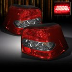 VW Golf 1999-2006 Red and Smoked LED Tail Lights