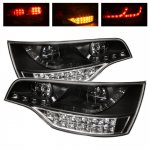 2009 Audi Q7 Black LED Tail Lights