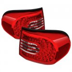Toyota FJ Cruiser 2007-2011 Red and Clear LED Tail Lights