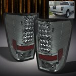 2012 Nissan Titan Smoked Philips Lumileds LED Tail Lights
