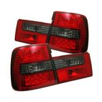 1995 BMW E34 5 Series Red and Smoked LED Tail Lights