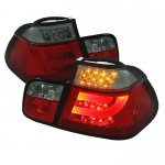 BMW E46 Sedan 3 Series 1999-2001 Red and Smoked LED Tail Lights