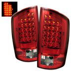 2007 Dodge Ram Red and Clear LED Tail Lights