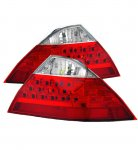 Honda Accord Sedan 2006-2007 Red and Clear LED Tail Lights