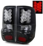 2007 Ford F150 LED Tail Lights with Black Housing