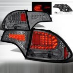 Honda Civic Sedan 2006-2011 Smoked LED Tail Lights
