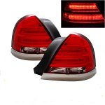 2007 Ford Crown Victoria LED Tail Lights with Chrome Trim