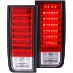 Hummer H2 2003-2009 Red and Clear LED Tail Lights