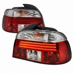 2000 BMW 5 Series LED Tail Lights Red and Clear