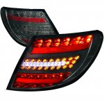 Mercedes Benz C Class Sedan 2008-2011 Smoked LED Tail Lights
