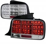 Ford Mustang 2005-2009 Clear LED Tail Lights Sequential