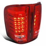 2013 Chevy Silverado 2500HD Red Bar LED Tail Lights