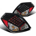 Nissan Altima Sedan 2007-2009 Black LED Tail Lights