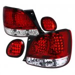 Lexus GS400 1998-2001 Red and Clear LED Tail Lights with Trunk Lights