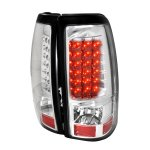 2003 GMC Sierra Clear LED Tail Lights