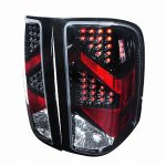 2013 Chevy Silverado 2500HD LED Tail Lights Black