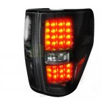 2009 Ford F150 LED Tail Lights Black