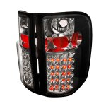 2013 Chevy Silverado 2500HD Black LED Tail Lights