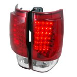 GMC Yukon 2007-2014 Red and Clear LED Tail Lights