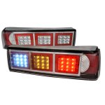 1989 Ford Mustang Red Clear LED Tail Lights