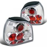 VW Golf 1993-1998 LED Tail Lights Chrome