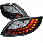 Mazda MAZDA2 2011-2012 Black LED Tail Lights