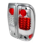 2001 Ford F250 Super Duty Clear LED Tail Lights