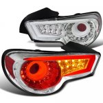 2013 Scion FRS LED Tail Lights Chrome