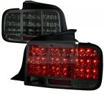 Ford Mustang 2005-2009 Smoked LED Tail Lights Sequential