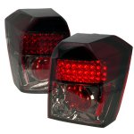 Dodge Caliber 2007-2013 Red and Smoked LED Tail Lights