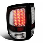 2012 Dodge Ram Black Chrome LED Tail Lights