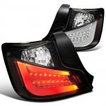 Scion tC 2011-2013 Black LED Tail Lights