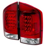 Nissan Armada 2004-2012 Red and Clear LED Tail Lights