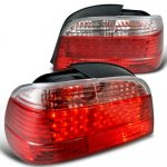 1995 BMW 7 Series LED Tail Lights Red and Clear