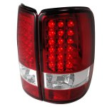 GMC Yukon Denali 2001-2006 Red and Clear LED Tail Lights