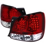 Lexus GS400 1998-2001 Red and Clear LED Tail Lights