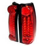1998 Chevy Tahoe Red LED Tail Lights