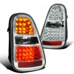 Mini Cooper S 2005-2006 Clear LED Tail Lights