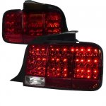 Ford Mustang 2005-2009 Red LED Tail Lights Sequential