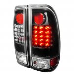 2007 Ford F350 Super Duty Black LED Tail Lights