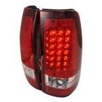 2005 GMC Sierra Red LED Tail Lights