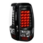 2000 GMC Sierra Black LED Tail Lights