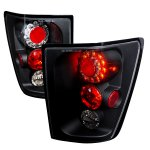 2005 Jeep Grand Cherokee Black LED Tail Lights