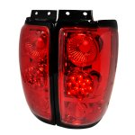 1999 Ford Expedition Red LED Tail Lights